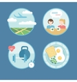 Modern icons set in flat style vector image