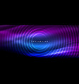 neon glowing lines magic energy space light vector image vector image