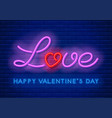 neon love design vector image