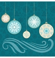 New Year Snowflake Card vector image vector image