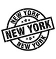 new york black round grunge stamp vector image vector image