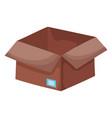 open cardboard box carton cargo element icon vector image