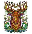 ornamental deer vector image vector image