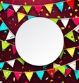 Party Background with Clean Card Colorful Bunting vector image