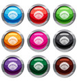 pearl shell set 9 collection vector image