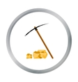 Pickaxe icon cartoon Singe western icon from the vector image