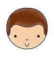 scribble cute little boy vector image