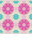 seamless abstract floral patternmandala pattern vector image