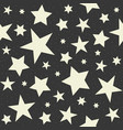seamless pattern star vector image vector image