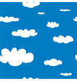 Seamless pattern with white clouds on blue sky bac vector image