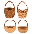 Set of Baskets vector image