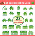 set of ecological houses of varying complexity vector image