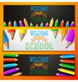 Set of school banners with place for your text and vector image