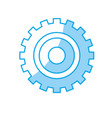 silhouette industry gear to process engineering vector image vector image