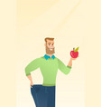 slim man in pants showing results of his diet vector image vector image