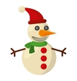 snowman christmas character isolated icon vector image vector image