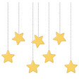 stars hanging icon vector image vector image