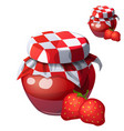 strawberry jam cartoon icon isolated on vector image
