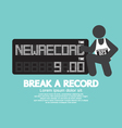 The Athlete With Break A Record Banner vector image vector image
