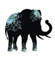 The silhouette of the elephant vector image vector image