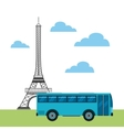 travel and france design vector image vector image