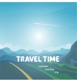 travel time background vector image vector image