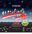 Winter Sale Up to 50 Percent Banner vector image