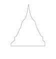 Thai Temple Path on the white background vector image