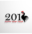 2017 Happy New Year with creative rooster concept vector image vector image