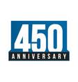 450th anniversary icon birthday logo vector image vector image