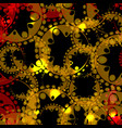 abstract glowing pattern of gears and spheres in vector image vector image