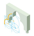 arch architecture icon isometric 3d style vector image vector image