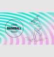 baseball player with a bat outline baseball vector image vector image