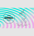 baseball player with a bat outline vector image vector image