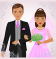 betrothed pair vector image vector image