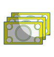 bills cash money to economy business vector image vector image