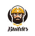 builder constructor logo industry support vector image vector image