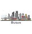busan south korea city skyline with color vector image vector image