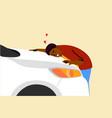 buy car love embrace insurance concept vector image