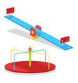 children carousel and seesaw for young kids vector image vector image
