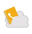 cloud with directory notebook icon vector image vector image