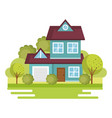 colorful houses design vector image vector image