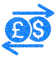 currency exchange grunge icon vector image vector image
