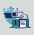 data security with shield vector image