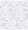 dragons doodle seamless pattern vector image vector image