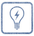electric bulb fabric textured icon vector image vector image