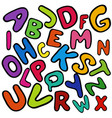 english colorful alphabet for kids vector image vector image