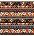 Ethnic ornament orange vector image