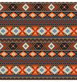 Ethnic ornament orange vector image vector image