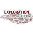 exploration word cloud concept vector image vector image